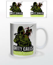 GAMING ZONE-DUTY CALLS 11 OZ COFFEE MUG TEA CUP GAMER CALL OF DUTY CONTROLLER!!!
