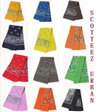 "NEW! Bandana One-Sided Paisley Print Scarf 22""x 22"" Handkerchief"