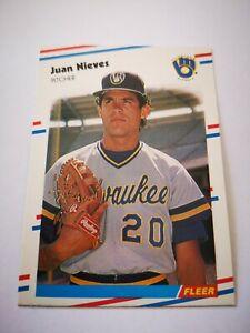Fleer 1988 carte card Baseball MLB US NM+/M Milwaukee Brewers #170 Juan Nieves
