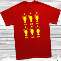 6 European Cups T-Shirt Liverpool 6 Times 2019 Football