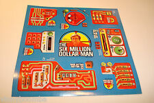 VINTAGE 6 MILLION DOLLAR MAN BIONIC STICKER SET 1973 U.C.S.I. AUTHENTIC DECALS !