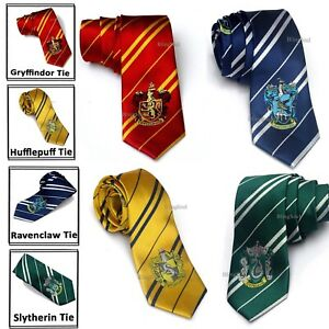 Harry Potter House Themed Silk Ties