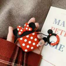 2019 Cute 3D Cartoon Minnie Headset Airpods Charge Case Cover For Airpod + Ring