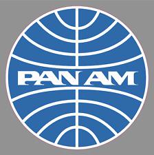 """PAN AM AIRLINES Logo 6"""" Premium Vinyl Sticker Pan American World Airways Airline"""