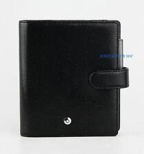MONTBLANC BOHEME 106788 POCKET ORGANIZER-WALLET 4CC BLACK-PEARL LEATHER ITALY 12