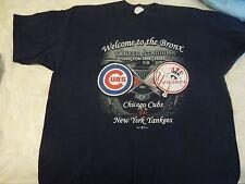 Collectors Chicago Cubs tee shirt Yankee Stadium- June 2005 size 2X- ticket stub