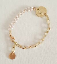 Gold Chain Pearl Coin Bracelet Other Bloggers Stories Mango