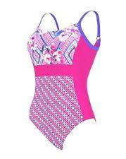 "Zoggs Havana Poolside Side Panel Ladies Body Shaping Swimsuit Size 20 UK 44"""