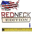 REDNECK EDITION Dully TRUCK car Tailgate EMBLEM logo DECAL sign CHROME RED NECK