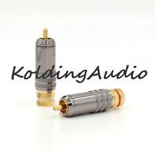 4pcs Gold Plated WBT Style RCA Plug RCA Plug Material Copper  Soldering Audio