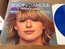 """FRANCE GALL """"BESOIN D´AMOUR"""" 2 TRACKS BLUE VINYL 12 INCH MAXI SINGLE 1978 FRANCE"""