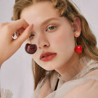 Fashion Simulation Sweet Red Cherry Fruit Earrings Ear Stud Women Chirstmas Gift
