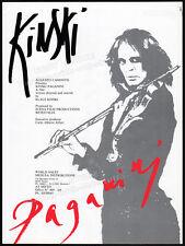 Klaus Kinski__PAGANINI__Original 1987 Trade AD promo / poster__Nikolai__Debora