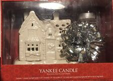Yankee Candle Ceramic Tea Light Holder - Glowing White Holiday Christmas House