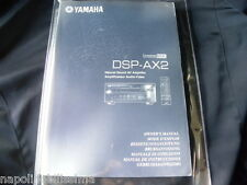 Yamaha DSP-AX2 des Besitzers Manuell operating Anleitung neu