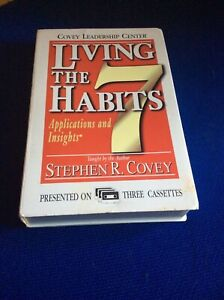 Living the 7 Habits - Stephen Covey - 3 Audio cassette programme, read by author