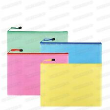 A4+ & A5 SIZE TUFF ZIP BAG DOCUMENT STORAGE FILING WALLET FOLDER ARCHIVE BAGS