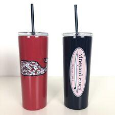 Vineyard Vines Target Lidded Reusable Cup Drinkware 22.5 oz Set of 2 Tumbler