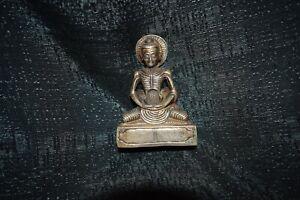 Silberfigur,Tibet,medit.Asket in Tuch gehüllt,Varja beschrift.,Silber 925 massiv