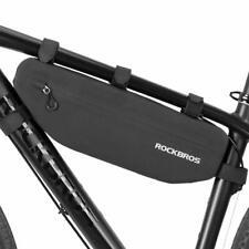 RockBros Велоспорт треугольник сумка-кофр, сумка, мотоциклетная сумка на раму водонепроницаемый, черный