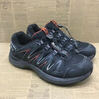 Salomon Mens XA Comp 7 WP 327086 Black Running Shoes Lace Up Low Top Size 8.5