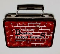 BOSTON BAKED BEANS VINTAGE MINIATURE SUITCASE ADVERTISING TIN