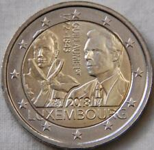 2 Euro LUXEMBOURG 2018 - Deces Grand Duc Guillaume 1er  UNC  !!!