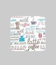 Kork - Untersetzer 6er-Set Kaffee Dekor Glas - Untersetzer 9,5 x 9,5 cm NEU