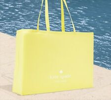 🌸 NWT Kate Spade Folding Large Canvas Shopper Tote Bag Lemon Sorbet NEW