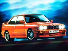 PHOTOGRAPH BMW M3 SERIES 3 E30 ORANGE CAR AUTOMOBILE POSTER ART PRINT LV10664