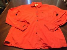 Mens Salmon Colored Parx Long Sleeve Button Down Shirt Size S