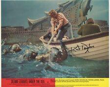 KIRK DOUGLAS Signed 10x8 Photo 20,000 LEAGUES UNDER THE SEA COA