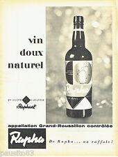 PUBLICITE ADVERTISING 106  1958  ST Raphael  apéritif Rapha