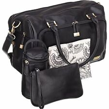Isoki Baby Diaper Bag w/13 Pockets Premium Large Black + 4 Accessories Pre-Owned