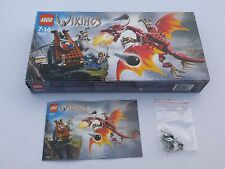 *LEGO VIKINGS VIKING CATAPULT v NIDHOGG DRAGON SET 7017 BOX INSTRUCTIONS SPARES*