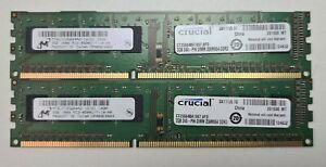 4GB (2x2GB) DDR3 PC3-8500U NONECC 240 PIN PC RAM DESKTOP MEMORY INTEL AND AMD