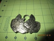 1979 belt buckle solid brass 2 pigs limited edition usa made
