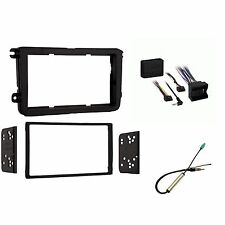 VW Double Din Car Stereo Radio Install Kit Dash Combo W/ Antenna and Interface