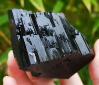STUNNING LARGE COLLECTOR MUSEUM GRADE BLACK TOURMALINE SPECIMEN, HEALING CRYSTAL