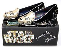 NIB Disney Star Wars Irregular Choice C-3PO Gold Women's Flats Shoes ALL SIZES