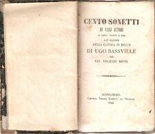 Cento Sonetti di varj Autori - Alessandria 1846 - Vedova Gabetti-Ottolini