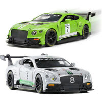Bentley Continental GT3 Racing Car 1:32 Model Car Diecast Gift Toy Vehicle Kids