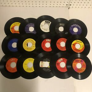 Vintage Lot of 60 Records Country Western Blues Rock N Roll RnB Soul Music