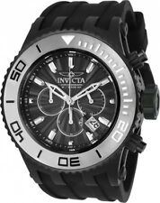 New Mens Invicta 24254 Subaqua Chronograph Black Rubber Strap Watch