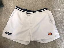 Ellesse Tennis Shorts in White & Navy - retro sports shorts Size L