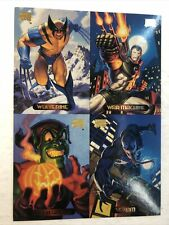 Marvel Masterpieces Oversized Promo Card Sheet (1994) Wolverine| Venom