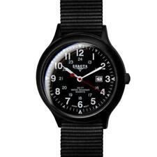 Field Watch Black Nylon Strap Military Dial Date Display Dakota 77632