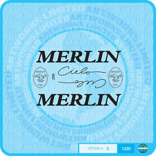 Merlin USA Cielo Bicycle Decals Transfers Stickers - Set 3 - Black