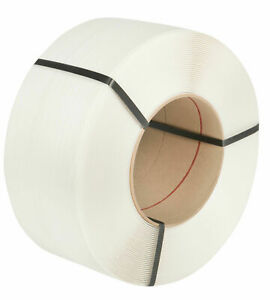 Machine Strapping Banding Coil White 12mm 145kg Breaking Strain x2700m