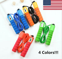 Jump Rope Counter Gym Fitness Exercise Skipping Fits Adults Kids Adjustable